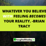 Thought Of The Day -Become Things Technique to Manifest Instantly