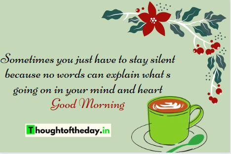 thought of the day in english good morning